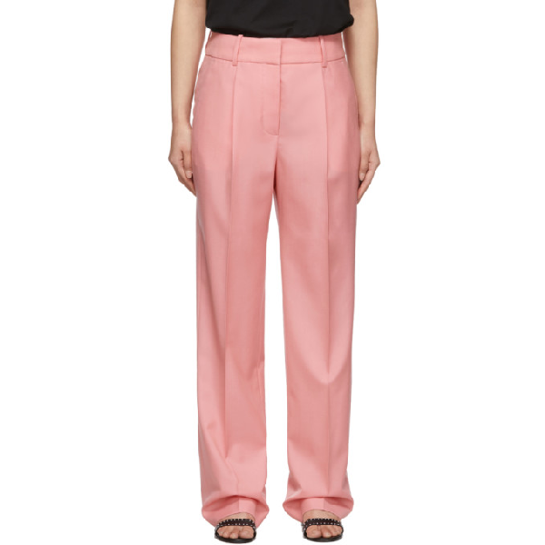 Givenchy High-waisted Tailored Trousers In 672 Pink