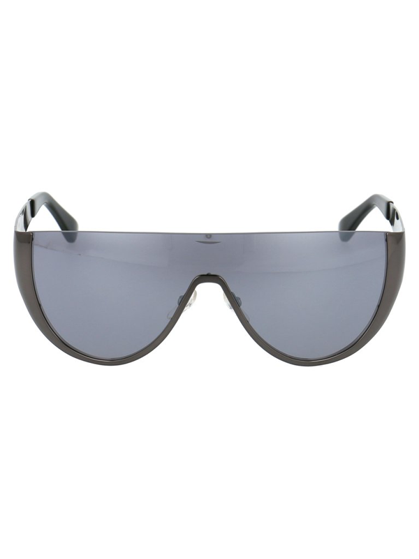 Moschino Eyewear Shield Sunglasses In Black