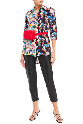 Sandro Louisette Printed Crepe De Chine Shirt In Multicolor