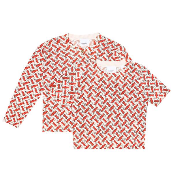 Burberry Kids' Logo Wool-jacquard Cardigan In Multicoloured