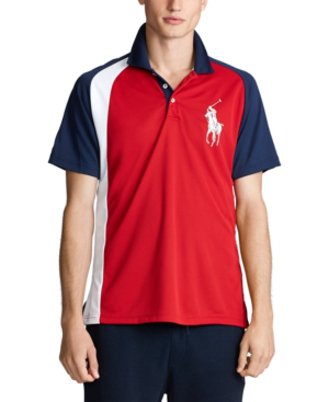 Polo Ralph Lauren Men's Big & Tall Classic Fit Performance Polo Shirt In Rl 2000 Red Multi