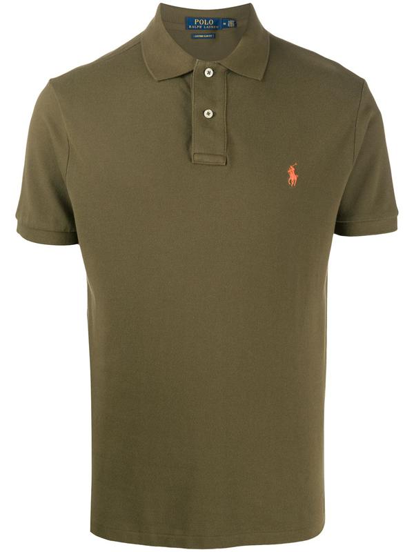 Polo Ralph Lauren Green Slim Cotton Logo Embroidery Polo Shirt
