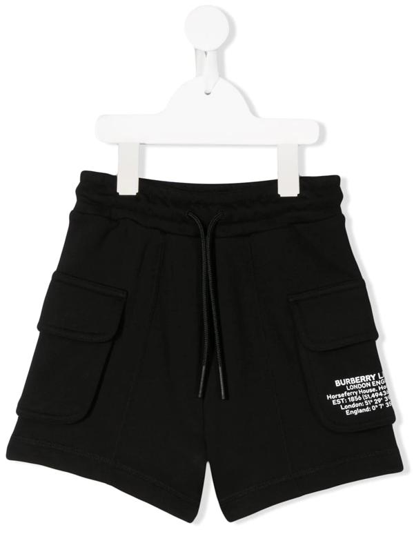 Burberry Kids' Co-ordinates Print Shorts In Black