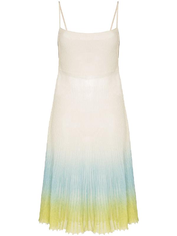 Jacquemus 'la Robe Helado' Kleid Mit Farbverlauf In White