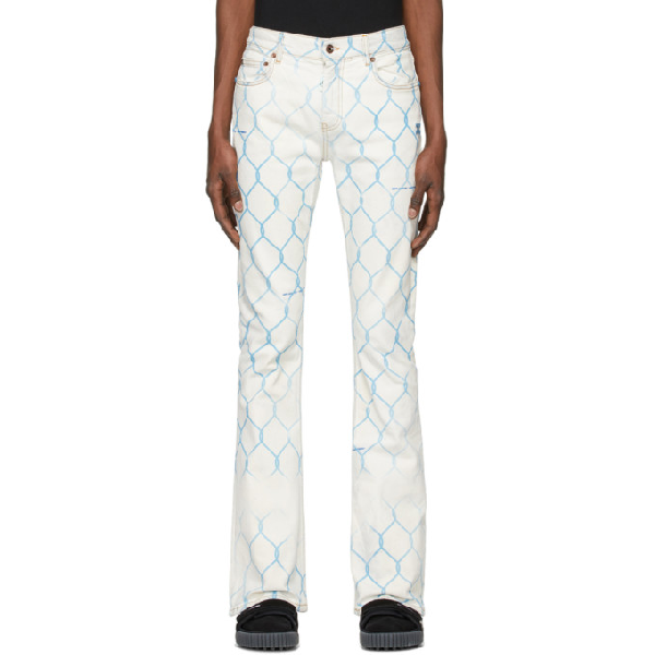 Off-white Fence Skinny Stacked Cotton Denim Jeans In 7131 Blclt