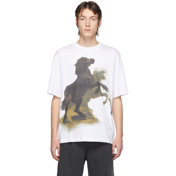 Acne Studios Oversized Printed Cotton-jersey T-shirt In Optic White