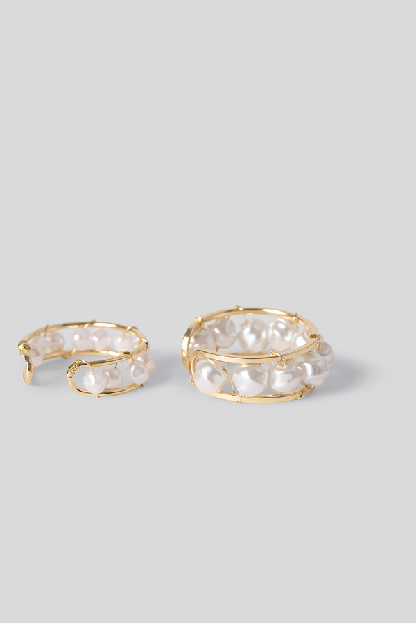 Na-kd Pearl Detail Rings Gold