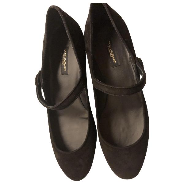 Dolce & Gabbana Black Velvet Heels