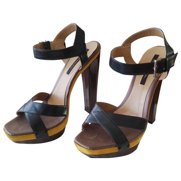 Diego Dolcini Multicolour Leather Sandals