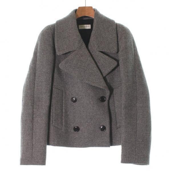 Dries Van Noten Black Wool Coat