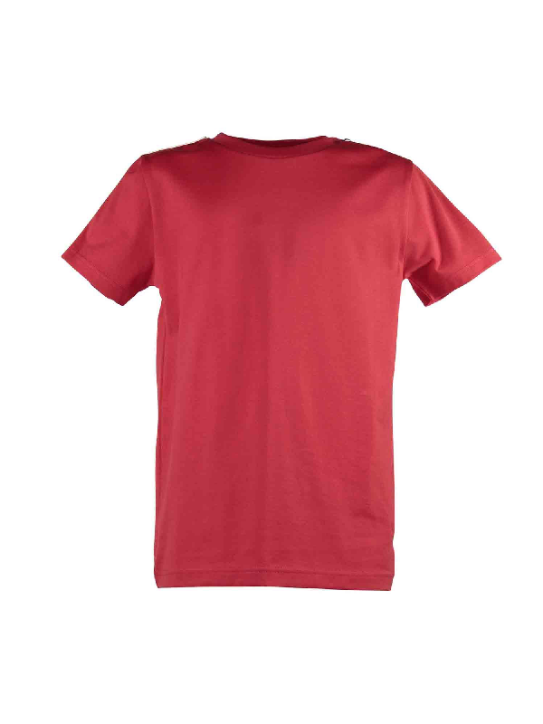 Givenchy Kids' Branded Bands T-shirt In Red