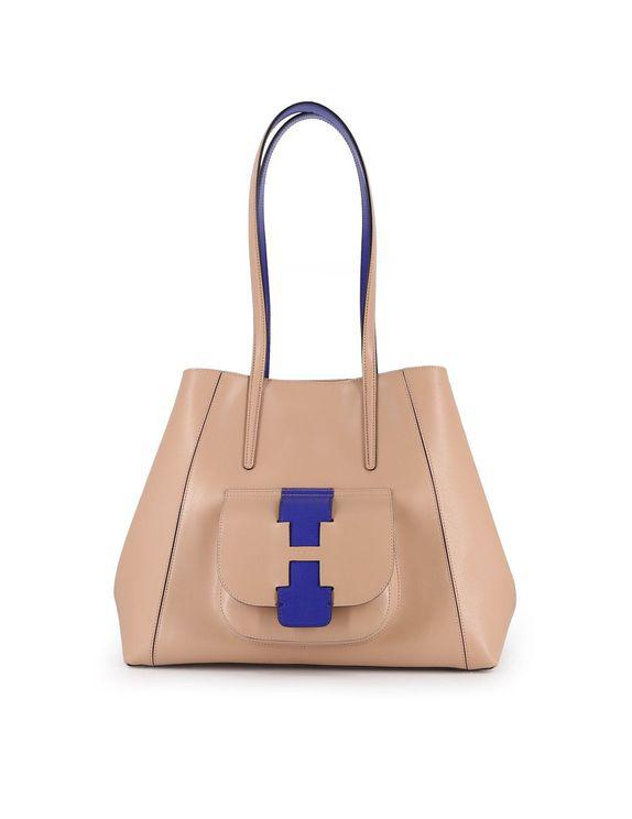 Hogan Shopping Bag In Brown