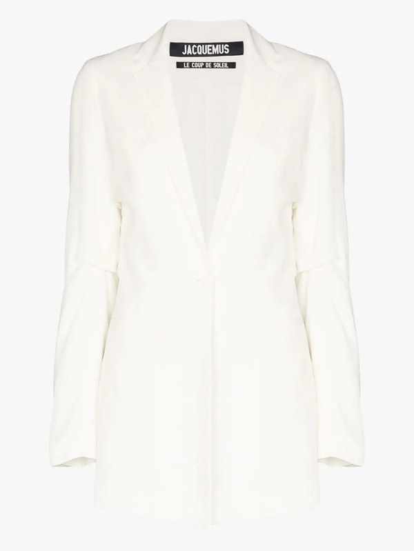 Jacquemus La Veste Single-breasted Blazer In White