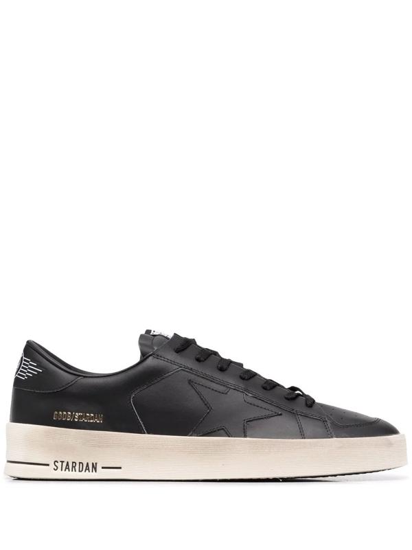 Golden Goose Deluxe Brand Men's Stardan Low Top Sneakers In Schwarz