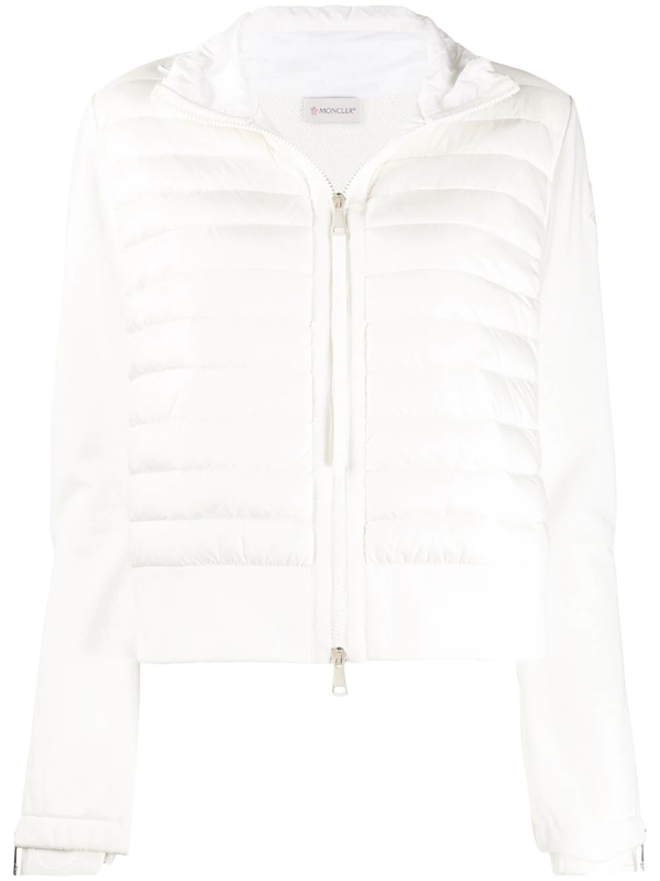 Moncler Quilted Shell And Cotton-blend Jersey Down Jacket In White