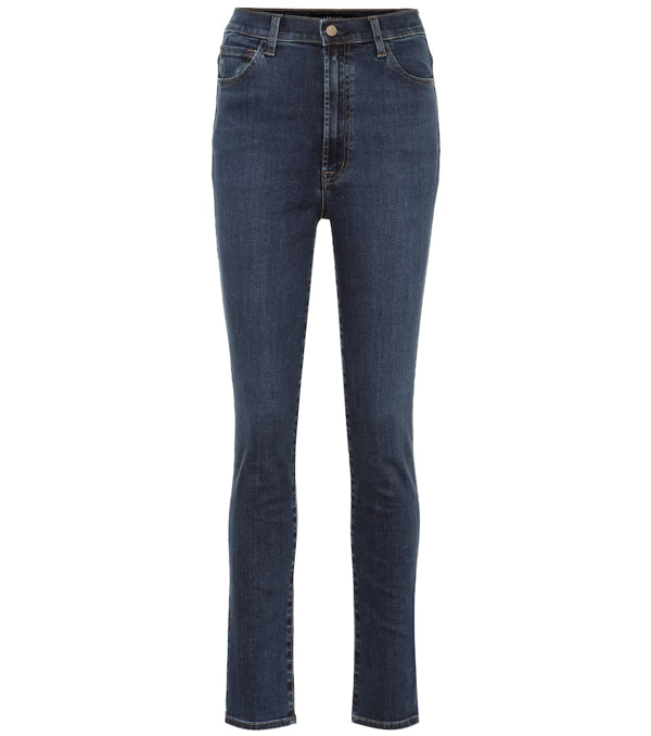 J Brand 1212 Runway High-rise Skinny Jeans In Blue