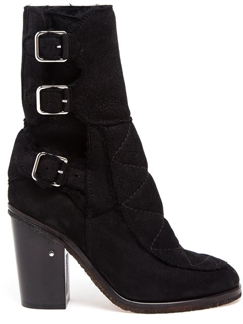Laurence Dacade Merli Shearling Lined Boot In Black