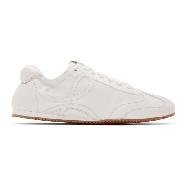 Loewe Ballet Runner Low-top Sneakers In 2100 White