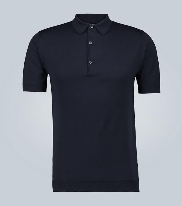 John Smedley Roth Slim-fit Sea Island Cotton-piqué Polo Shirt In Black