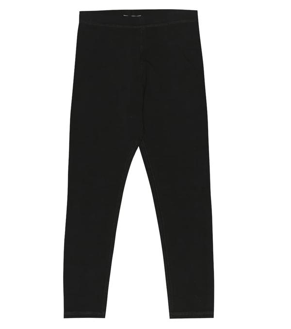 Burberry Kids' Logo Stretch Cotton Leggings In Black