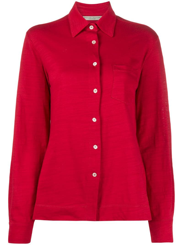 Holland & Holland Chest Pocket Shirt In Red