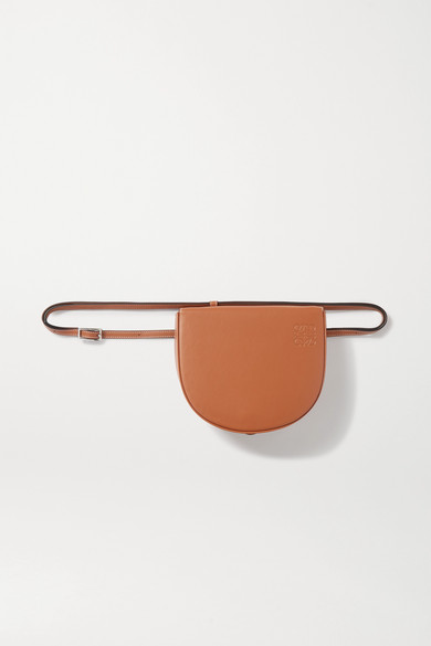 Loewe Heel Mini Leather Crossbody Bag In Tan