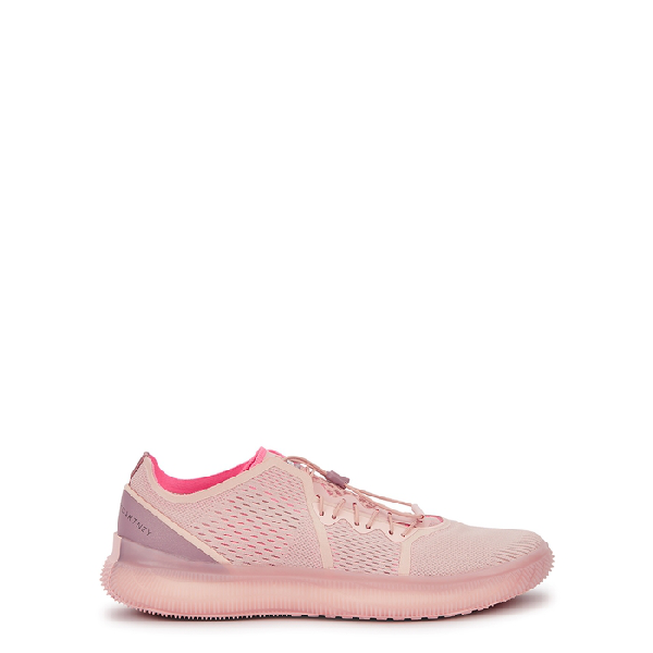 Adidas By Stella Mccartney Pureboost Pink Knitted Sneakers