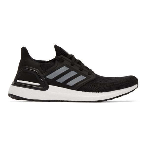 Adidas Originals Black & White Ultraboost 20 Sneakers In Core Black/night Metallic/cloud White