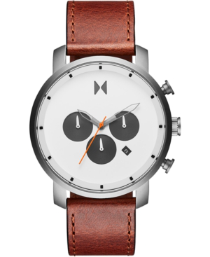 Mvmt Men's Chronograph Rugged Pack Sienna Tan Leather Strap Watch 45mm