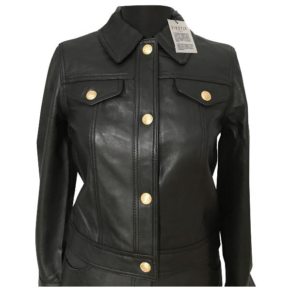 Claudie Pierlot Spring Summer 2019 Black Leather Leather Jacket