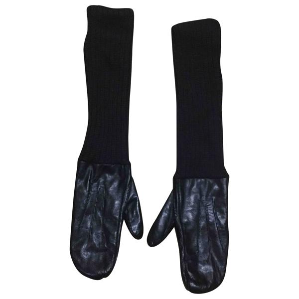 Monies Black Leather Gloves