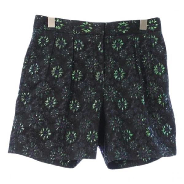 Dries Van Noten Green Cloth Shorts
