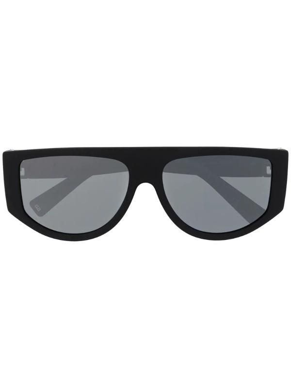 Givenchy Chunky Aviator Sunglasses In Black
