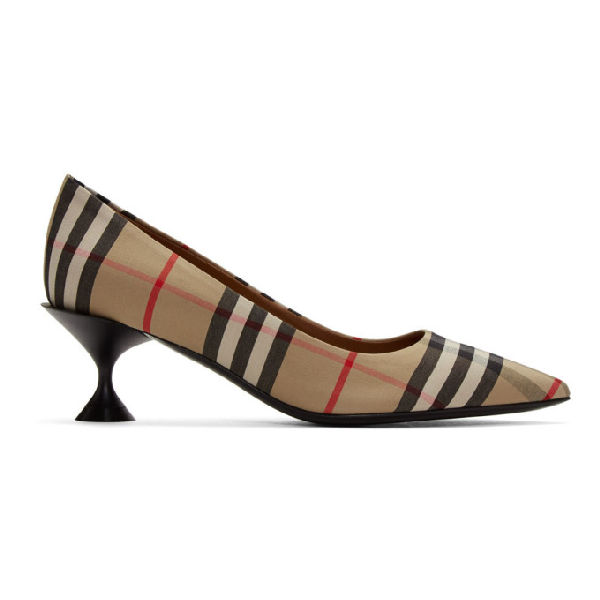 Burberry Lillyton Vintage Check Cotton Pumps In Archive Bei