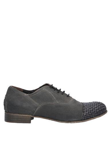 Le Ruemarcel Laced Shoes In Steel Grey
