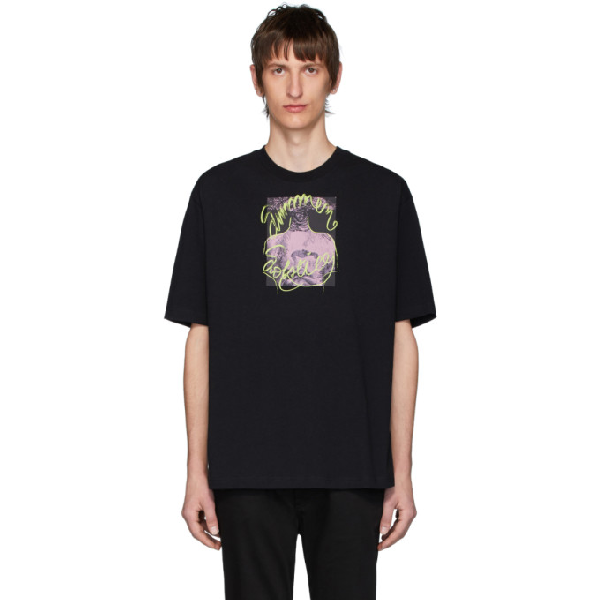 Acne Studios Summer Solstice Print T-shirt Black