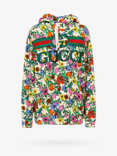 Gucci Sweatshirt In Beige