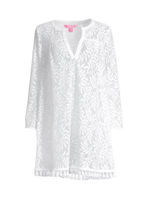 Lilly Pulitzer Women's Kizzy Lace Cover-up Dress In Resort White