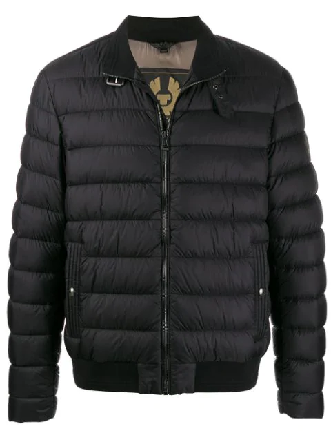Belstaff Circuit Quilted Shell-down Bomber Jacket In Black