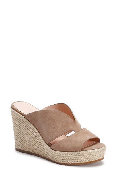 Kate Spade Women's Tropez Espadrille Wedge Sandals In Roasted Almond