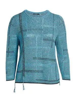 Nic + Zoe, Plus Size Women's Line Of Work Sweater In Deep Turquoise