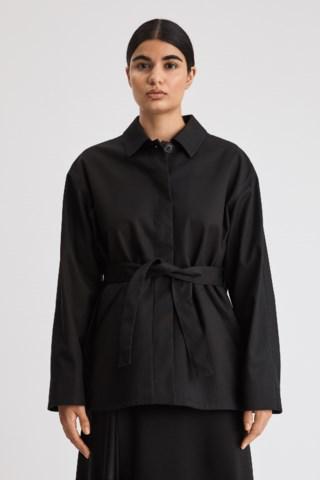 Filippa K Seine Belted Jacket In Black