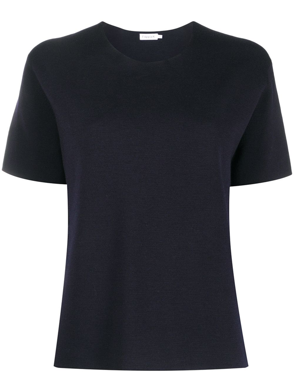 Filippa K Rose Knitted T-shirt In Blue