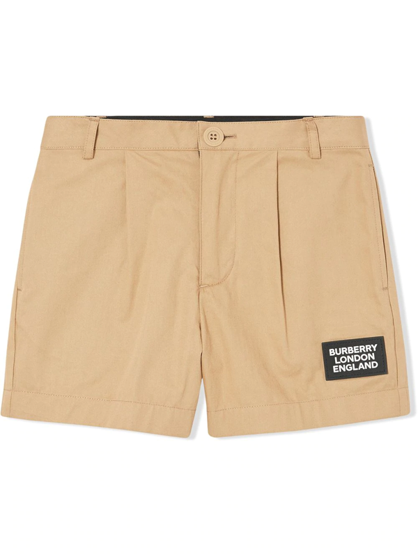 Burberry Kids' Twill Tailored Shorts In Neutrals