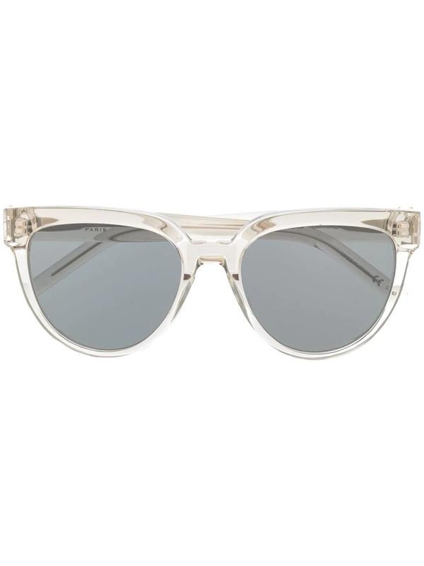Saint Laurent Retro Sunglasses In Silver