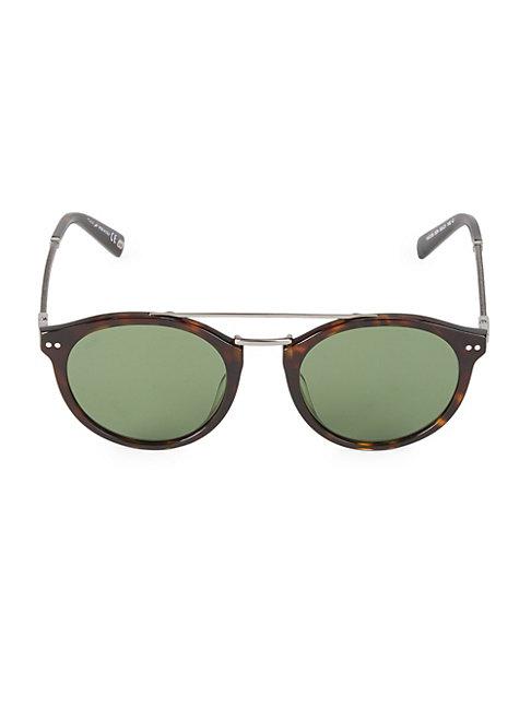 Web Round 50mm Tortoise Sunglasses In Havana