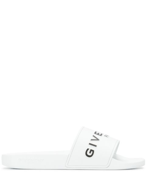 Givenchy Men's Slippers Sandals Rubber In 100 White