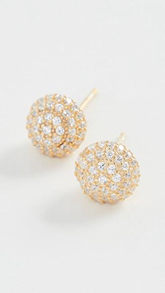 Shashi Disco Stud Earrings In Gold