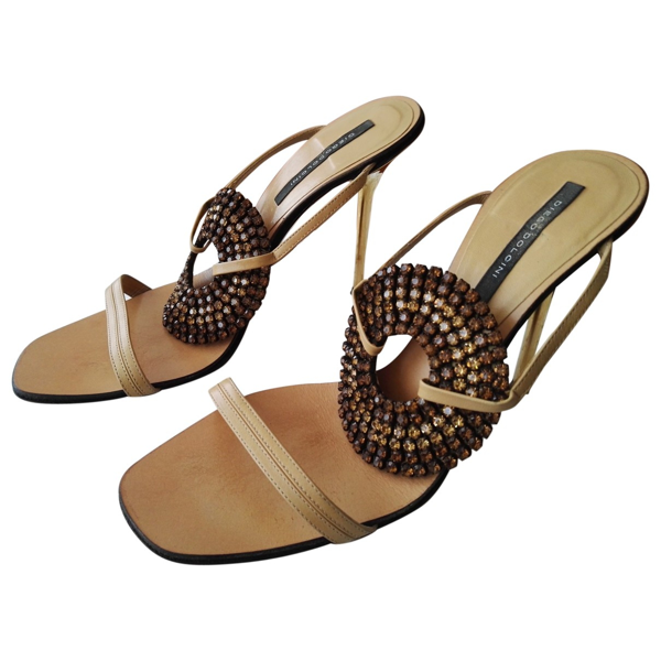 Diego Dolcini Beige Leather Sandals