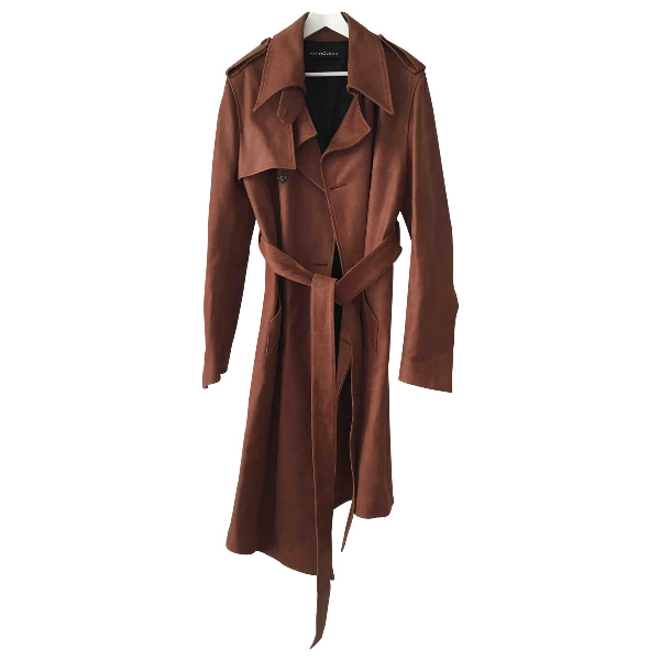 Y/project Brown Leather Coat